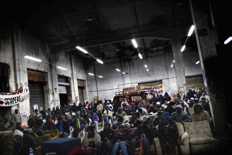 "Social Centre ""Ex Canapificio"" in Caserta. A weekly assembly of immigrants."