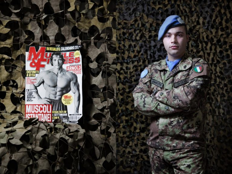 """Corporal Davide Di Gioia. In the freetime I go to gym to give vent to the stress. I'd like to read a book but I don't do it. I read 3 books per year at maximum. The last was """"The Lord of the Ring"""", it was like a brick."""