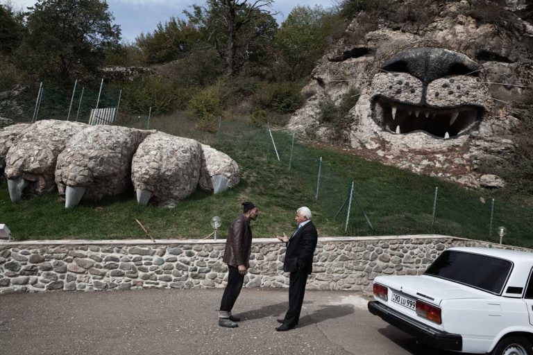 Nagorno-Karabakh receives financial help from Armenians living abroad. Russian-based businessman and benefactor Levon Hayrapetian commissioned a sculpture of his favourite animal, the lion, in the city of Vank.