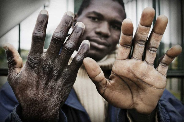 Worker's hands.