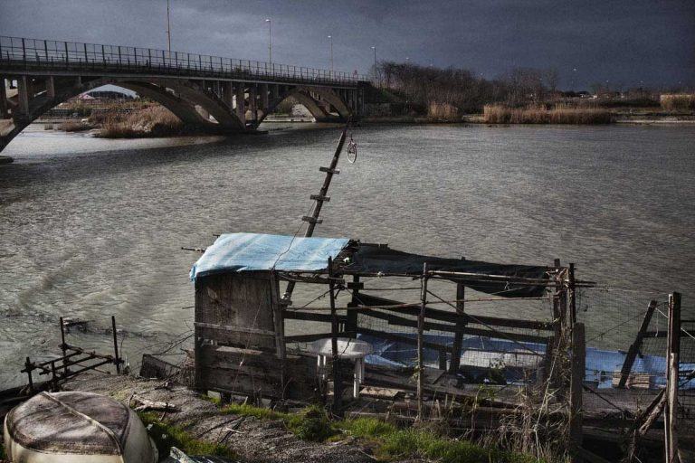 Volturno river. One of the most polluted river in Italy.