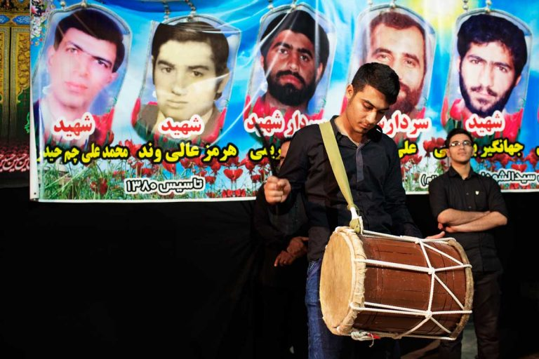 The rythm of the drums is the ritual soundtrack of Ashura. Iran, Ahvaz, November 2014.