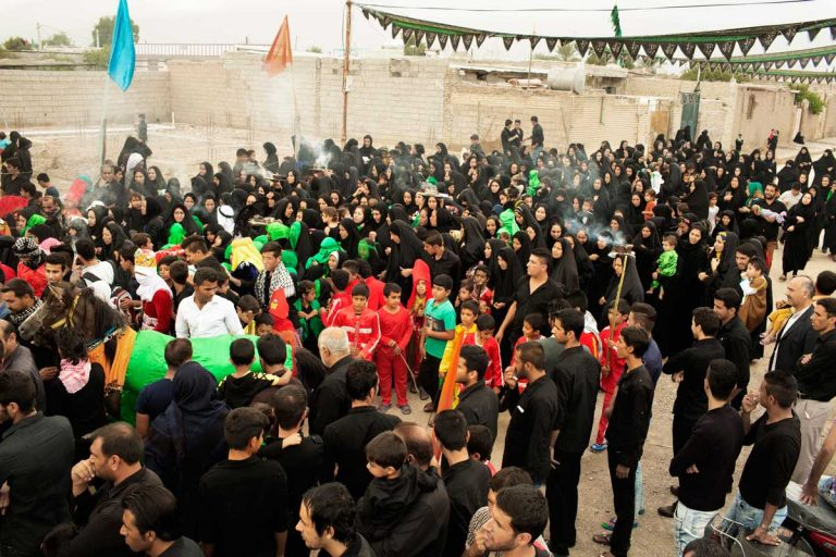 In the city of Shush, in the South of Iran, all the population is involved in the making of the celebrations or acting in the play during the Ashura. Iran, Shush, November 2014.