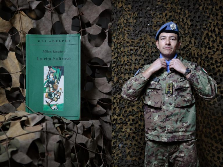 """Colonel Christian Pinna. The Koran is a book that everyone should read, I've done it before going to Afghanistan and I liked it a lot. Reading opens the mind, like travelling and then, it's a great topic to talk about with others. I'd like to get out of the base and meet the locals, but unfortunately I can not, so I dedicate my freetime to reading. I'm reading both """"The Lord of the Rings"""" and Milan Kundera, I like them a lot. I'm not a believer, I have lost faith before the first communion. If I had not been a soldier maybe I would become a doctor for the NGO Emergency."""