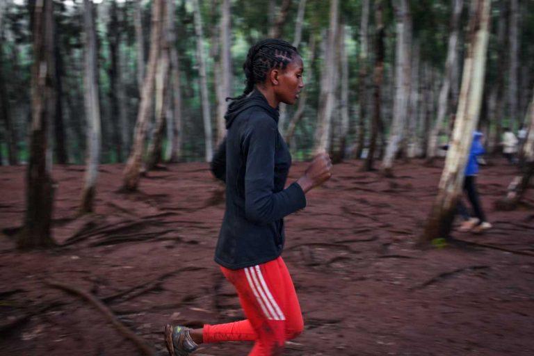 Bekoji, Ethiopia. August 2013. Deruu runs 400 and 800mt for a club in Asella.