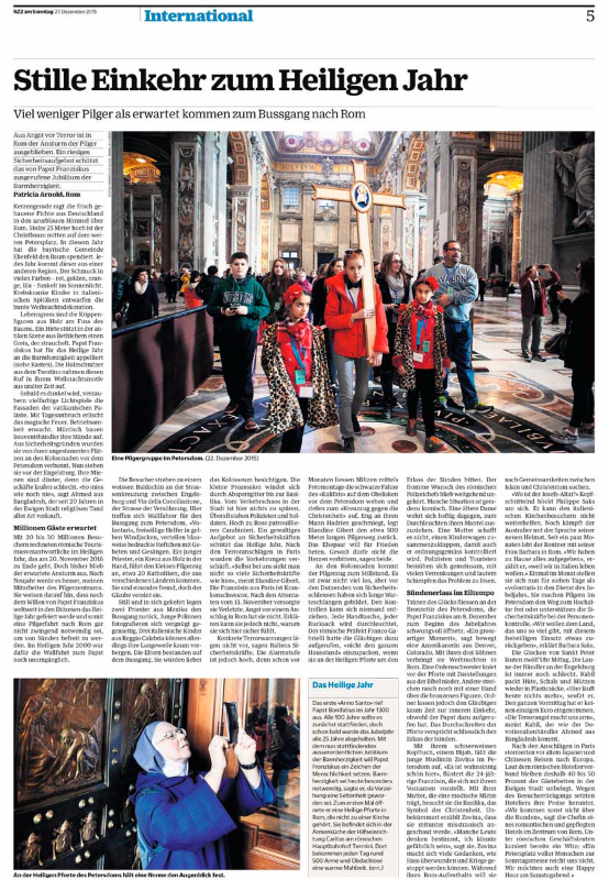 NZZ am Sonntag - Switzerland - December 2015