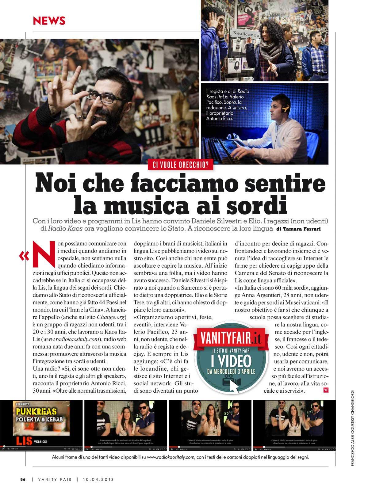 Vanity Fair - Italy - April 2013